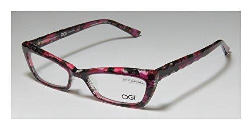 Ogi 3109 Womens/Ladies Optical Gorgeous Cat Eye Full-rim Eyeglasses/Eyeglass Frame (51-16-140, Pink / Multicolor)
