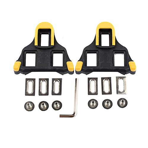 hothuimin Bike Cleats Self-locking Road Cycling Bicycle Cleat Set Compatible with Shimano&Look ()