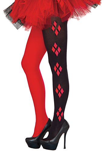 [Rubie's Women's Tights, Harley Quinn, One Size] (Supergirl Black Costumes)