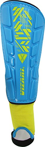 Vizari Malaga Shin Guard, Sky/Yellow, L-YOUTH/ADULT