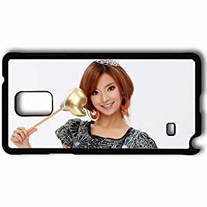 Personalized Samsung Note 4 Cell phone Case/Cover Skin Asian Face Smile Make Up Black