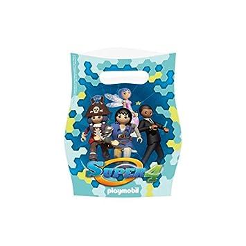 Amscan - 9900182 - 8 bolsas de fiesta de Playmobil Super 4 ...
