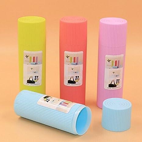 Generic hierba: caliente portátil Mini cepillo de dientes titular caso caja de tocador escritorio cepillo de dientes de viaje senderismo Camping proteger ...