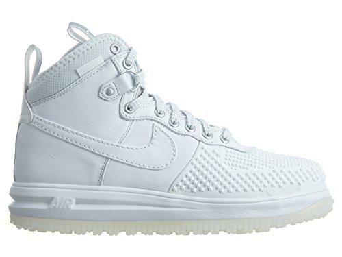 Nike Mens Lunar Force 1 Stivale Anatra Bianco / Bianco