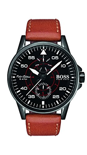 Hugo Boss Men's Aviator Watch 1513517 Tan 44mm Stainless Steel