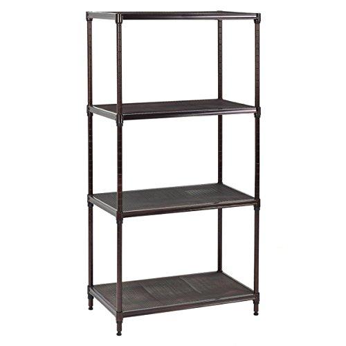Giantex 23''x13''x48'' 4 Layer Steel Storage Rack Shelf Mesh Organizer Home Kitchen (23''x13''x48'') by Giantex