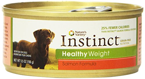 Nature's Variety Instinct Grain-Free Healthy Weight Formula Canned Dog Food 5.5 oz Cans (Case of 12)