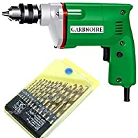 GARBNOIRE 10MM Powerful Electric Drill Machine with 13 pcs Professional Tool Drill Set (Color May Vary)