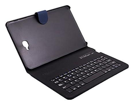 """Silver HT 111936940199 - Funda con Teclado Bluetooth para Samsung Galaxy Tab A de 10.1"""""""