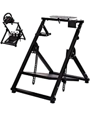 Minneer Steering Racing Wheel Stand for Logitech Fanatec Thrustmaster Clubsport Foldable & Tilt-Adjustable for Racing Console,Wheel,Shifter and Pedals NOT Included