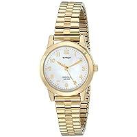 Timex T2M827 Essex Avenue - Reloj de banda de expansión de acero inoxidable en tono dorado para mujeres