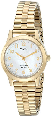 Timex Women's T2M827 Essex Avenue Gold-Tone Stainless Steel Expansion Band Watch by Timex