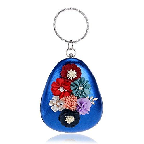 Bolsas Color de Uzanesx Bolso de Las Crossbody de seoras Blue Bolso Hombro Bolsos Bolso Blue Vestidos de Flores Las de Bolsos Noche Embrague ZFqw5RgF