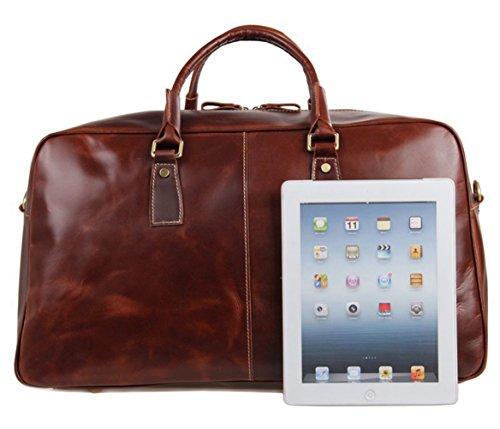 E-Bestar Borsa da viaggi in vero cuoio genuino portatile vera pelle borsetta