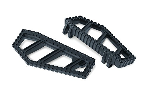 Kuryakyn 3595 Motorcycle Foot Control: Riot Floorboards with Serrated Toothed Non-Slip Traction for 1983-2019 Harley-Davidson Motorcycles, Satin Black, 1 Pair