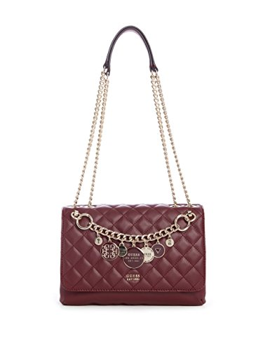 Burgundy Quilted Crossbody Victoria Convertible GUESS qawPO6RIx