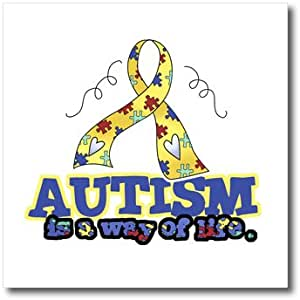 ht_113522_3 Dooni Designs Cause Awareness Ribbon Designs - Autism is a Way of Life Awareness Ribbon Cause Design - Iron on Heat Transfers - 10x10 Iron on Heat Transfer for White Material