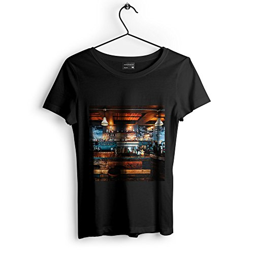 Bar Tavern - Unisex Tshirt - Picture Photography Artwork Shirt - Black Adult Medium (None-81C0E) -