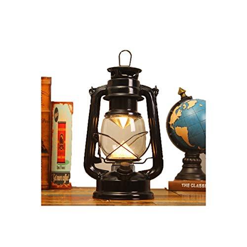 Zlshm LED Rechargeable Kerosene Lamp Battery Light Tent Light Camping Light Lantern Camp Light, Black