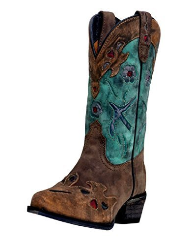 Dan Post Cowboy Certified Kids Brown Vintage Bluebird Boots Leather 5.5 M by Dan Post Boot Company