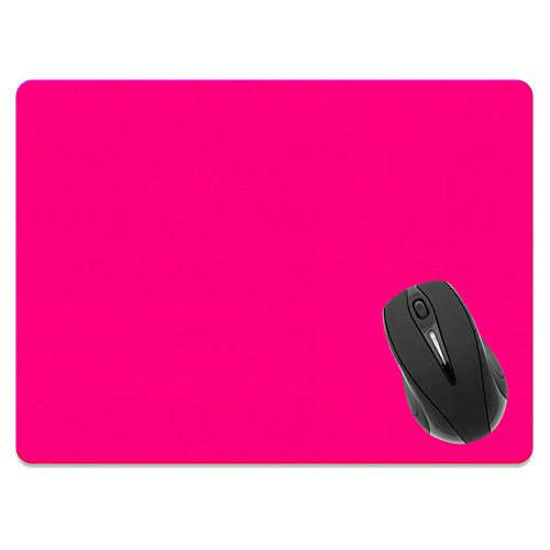 Hot Mouse Super Pad (Extra Large (X-Large) Size Non-Slip Rectangle Mousepad, FINCIBO Solid Hot Pink Mouse Pad for Home, Office and Gaming Desk)
