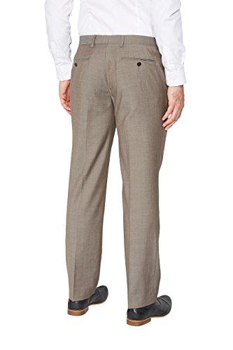 next Homme Pantalon de costume en laine italienne Taupe 38 / Short - Regular Fit