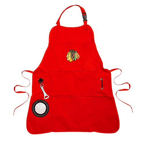 Team Sports America Chicago Blackhawks Men's Grilling Apron