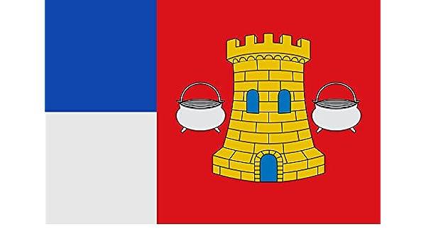 magFlags Bandera Large Municipal de Hornillos de Cerrato Palencia | Bandera Paisaje | 1.35m² | 90x150cm: Amazon.es: Jardín