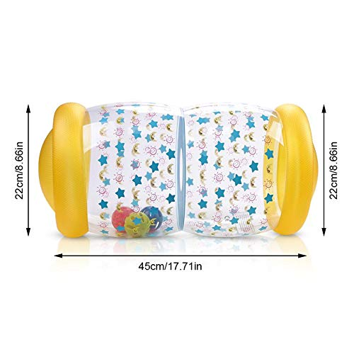 FOONEE Baby Help Crawling Toys with Rings Ball Drop Game for Crawling/& Standing Exercise Soft Infant Toys for Baby Infant Preschool Toys Inflatable Roller Crawling Baby Toy