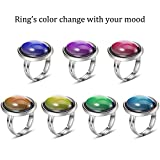 Hicarer 15 Pieces Adjustable Mood Rings for Girls