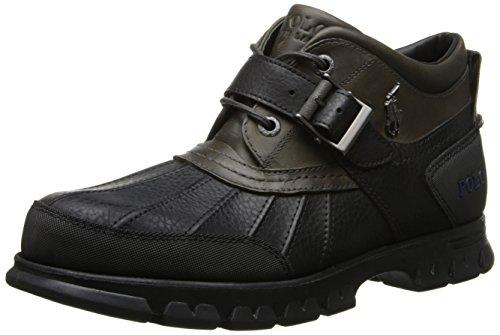 Polo Ralph Lauren Mens Ankle Work Boots Dover III Black SZ 7