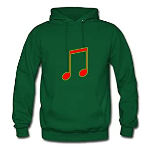 Music Notes Style Personality X-large Sweatshirts Women Cotton For Green