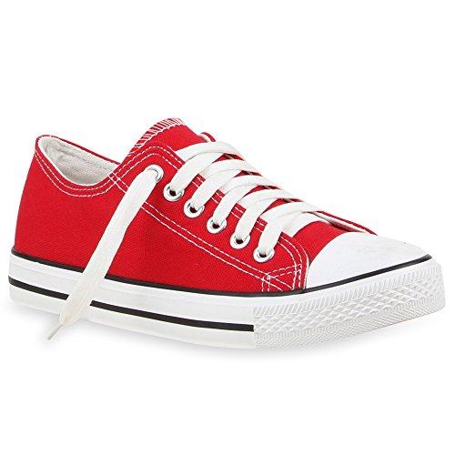 Stiefelparadies - Zapatillas de casa Mujer Rojo