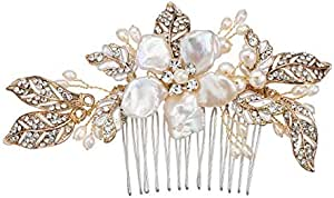 Bridal Hair Comb Simple Alloy Crystal Flower Hair Tools Wedding Accessories
