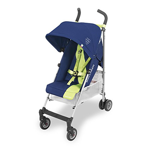 Maclaren Triumph Silla de paseo - ligera, de los 6 meses hasta los 25 kg, Asiento multiposición, suspensión en las 4 ruedas, Capota extensible con UPF ...