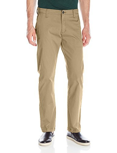 LEE Men's Modern Series Straight Fit Chino Pant, Fawn, 36W x 32L