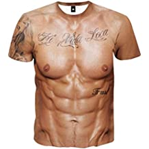 Unisex Holiday Shirt Rude Stag Party Fancy Dress 3D Offensive Boobs Printed Tee Tops