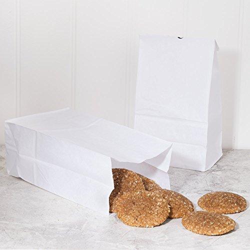 4 Lb White Paper Bags - 9