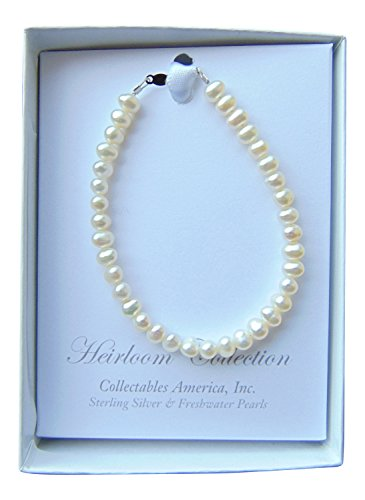 Girls Freshwater Pearl Bracelet, 6 Inches