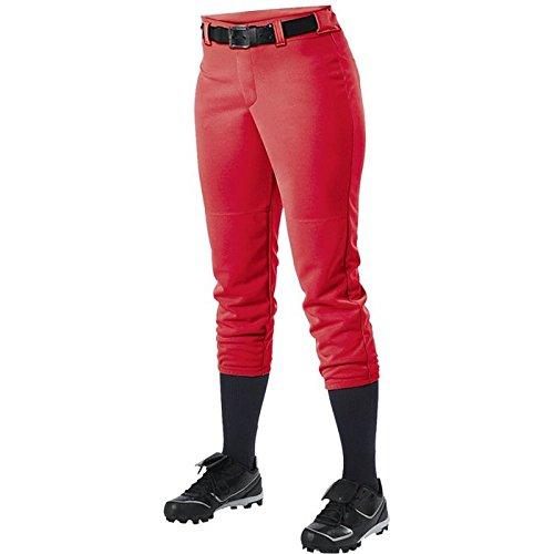 Alleson Athletic Women 's Softball Pants withベルトループ B00FFSBH3G Large|スカーレット スカーレット Large