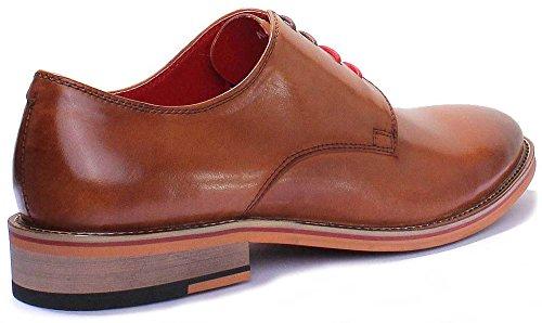 Marron Homme Ville De À Chaussures Reece Alfred Justin Pour Lacets Iw8zft
