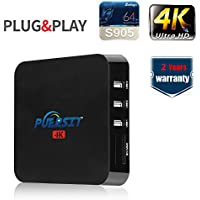 Puersit Q1 Pro Android 5.1 Streaming Media Player/HD TV BOX with Wifi,4K Resolution,LAN 1000M