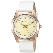 Ted Baker Women's TE2103 Dress Sport Gold Dial Rose Gold Case White Strap Watch