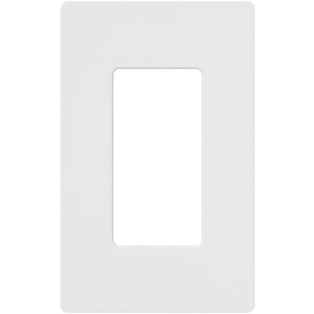 Lutron CW-1-WH 1-Gang Claro Screw-Less Wall Plate, White (20 Pack) by Lutron (Image #2)
