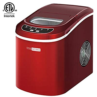VIVOHOME Portable Electric Automatic Countertop Ice Cube Maker Machine 26lbs/day ETL Listed