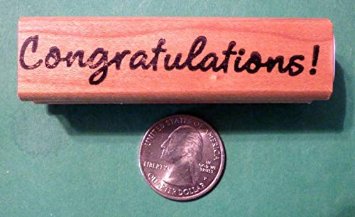 OutletBestSelling Congratulations Rubber Stamp, Wood Mounted