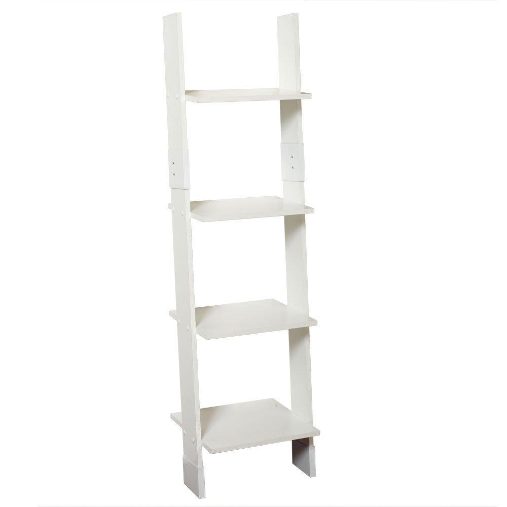 Zenna Home 9437W, Wood Ladder Linen Tower, White by Zenna Home
