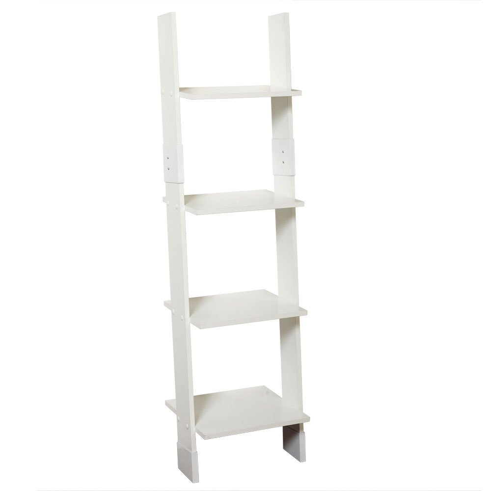 Zenna Home 9437W, Wood Ladder Linen Tower, White