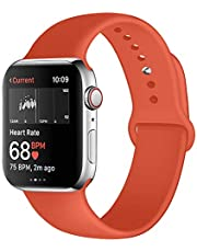 Kaome Compatible with Apple Watch Band 38mm 40mm 44mm 42mm,Soft Strap Sport Band for iWatch Series 5, Series 4, Series 3, Series 2, and Series 1