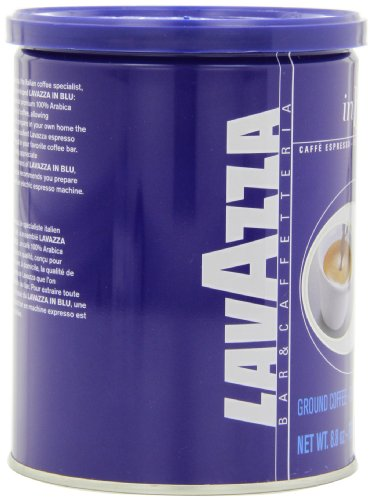 Lavazza in Blu - Espresso Ground Coffee, 8.8-Ounce Tins (Pack of 4)